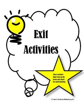 Exit Activities