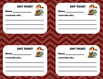 Exit Cards, Exit Tickets, Exit Slips.  15 in all!!!! Great for any subject!