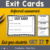 Exit Cards / Exit Tickets / Exit Slips - Formative Assessment