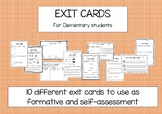 Exit Cards for Elementary Students
