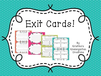 Exit Cards for Literacy