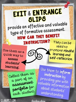 EXIT/ ENTRANCE SLIPS FOR ALL SUBJECTS MINI PACK