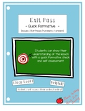 Exit Pass Printable