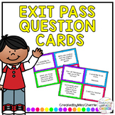 Exit Pass Question Cards #luckydeals