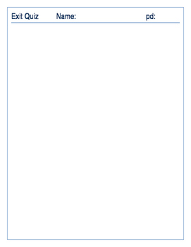 Exit Pass Template