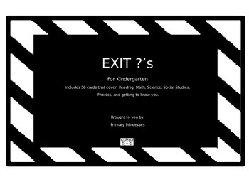 Exit Questions Kindergarten All subjects CCaligned
