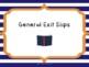 Exit Slip Assessment