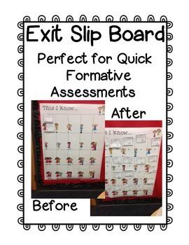 Free Exit Slip Board