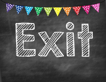Exit Slip Bulletin Board with labels