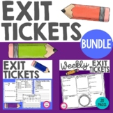 Exit Ticket Bundle | Learning Reflection