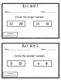 Exit Slip Comparing Numbers to 20
