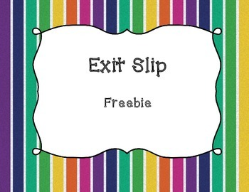 Exit Slip - Freebie