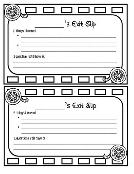 Exit Slip Hollywood Theme
