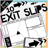 Exit Slips and Out the Door Tickets
