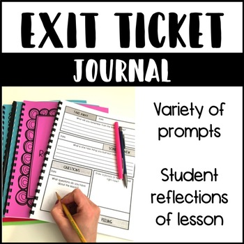 Exit Slip Journal for Any Subject