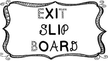 Exit Slip Kit