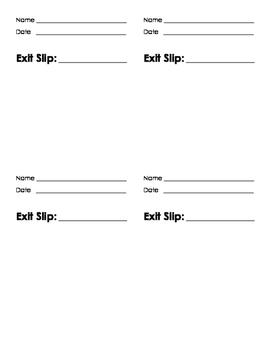 Exit Slip Master