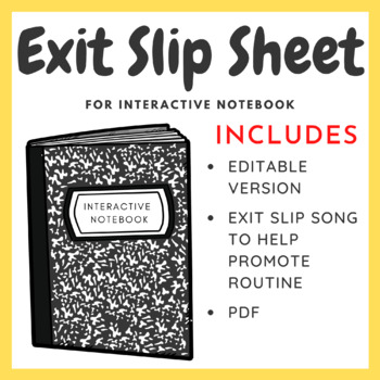Two Styles of Exit Slip Paper for Interactive Notebook - Recently Updated!