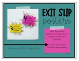 Exit Slip Posters
