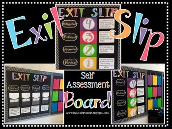 Exit Slip Self Assessment Board