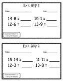 Exit Slip Subtract Within 15 Using Strategies