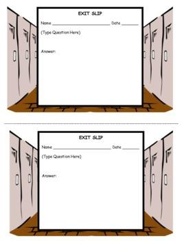 Exit Slip Template