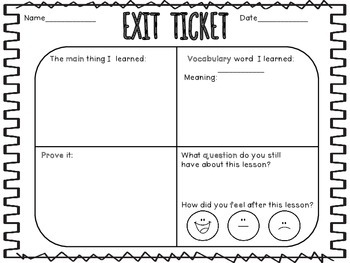 Exit Slip Ticket: Lesson Reflection