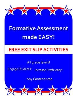 Exit Slip for ALL Levels!