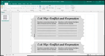 Exit Slip for Conflict and Cooperation