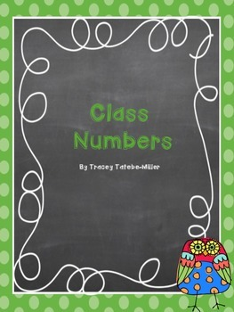 Owl Theme Class Numbers