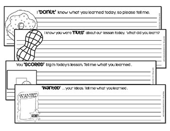 Exit Tickets - any subject