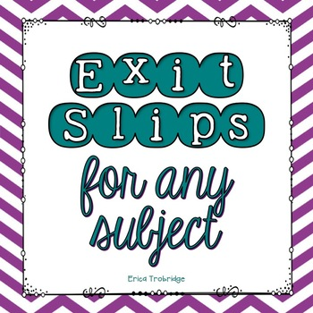 FREE! Exit Slips