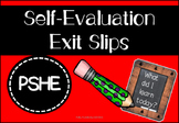 Self-Evaluation Exit Slips