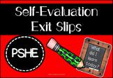 Self-Evaluation Exit Slips