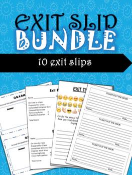 Exit Slips Bundle