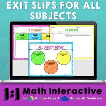 Exit Slips Digital Assessments