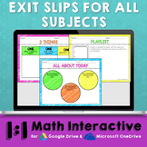 Exit Slips Digital Assessments