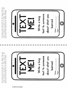 Interactive Exit Slips for Any Topic - EXIT FLIPS Set 1
