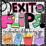 Interactive Exit Slips for Any Subject   EXIT FLIPS Set 1