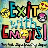 Emoji Exit Slips - Set 1
