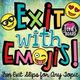 Emoji Exit Slips for Any Subject   Set 1