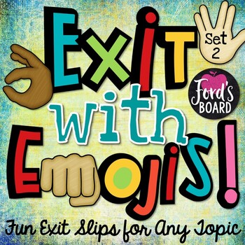 Emoji Exit Slips - Set 2