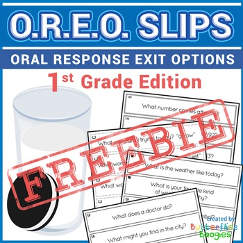 FREE Exit Tickets- OREO's for 1st Grade
