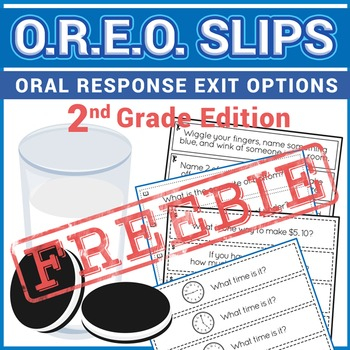 FREE Exit Tickets- OREO's for 2nd Grade