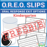 FREE Exit Tickets - OREO's for Kindergarten