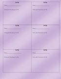 Exit Slips - Factors, Multiples, Prime, and Composite (4.OA.4)