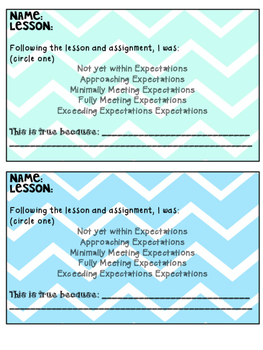 Exit Slips - Formative Assessment