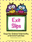 Exit Slips: Gauge Your Students' Understanding