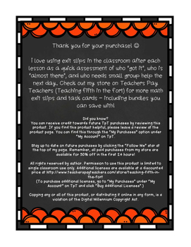 Exit Slips: Measurement {Customary and Metric} Fifth Grade