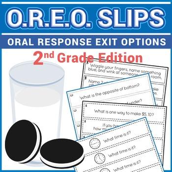 Exit Slips - Oral Response Exit Options (O.R.E.O.) - 2nd Grade